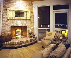 interior design fantastic isokern fireplace with brick walls