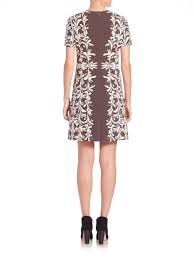 Tory Burch Wallpaper by Tory Burch Floral Print Ponte Dress In Gray Lyst