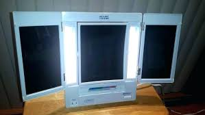 tri fold mirror with lights tri fold make up mirror socielle co