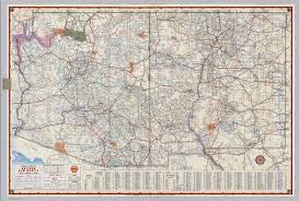 map of az shell highway map of arizona and new mexico david rumsey
