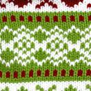 knit argyle snowflake