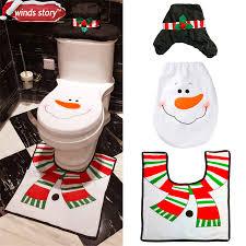 Snowman Rug Aliexpress Com Buy Christmas Bathroom Products 3pcs Set Xmas