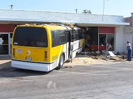 dart bus crashes into salvation army storefront texas car