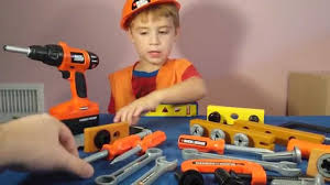 Toddler Tool Benches - power tool toys black and decker bob the builder real life youtube