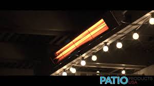 patio heater lights about infratech ceiling patio heater youtube