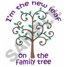 leaf on family tree embroidery designs machine embroidery