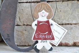 baby shower expectant parents gift salt dough ornament cookie