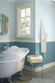 browse bathroom ideas get paint color schemes a soft blue palette evokes serenity in this bathroom