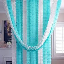 mint green streamers mint aqua blue white 3d four leaf tissue flower hanging streamers