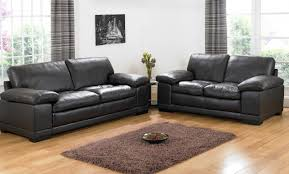 Brown Leather Armchair Design Ideas Living Room Black Leather Sofa Placed On The Light Brown Wooden