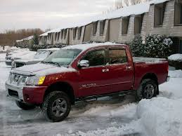 nissan trucks lifted pic of lifted truck with stock tires nissan titan forum