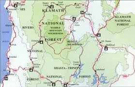 The Forest Map Klamath National Forest Map Northwest Nature Shop