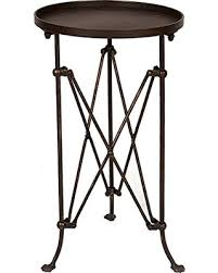 round metal side table great deals on creative co op hd6146 round metal side table bronze