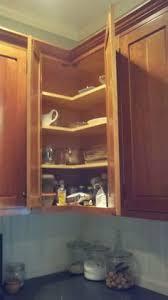 upper corner cabinet options corner upper solution full access no bulky corner cabinet