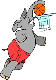 cartoon elephant playing basketball clipart the cliparts