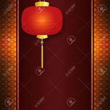 Chinese New Year Invitation Card Abstract Background With Antique Vintage Pattern And Chinese