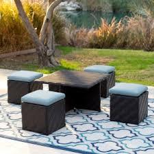 Pvc Wicker Outdoor Furniture by Wicker Ottoman On Hayneedle Resin Wicker Ottoman