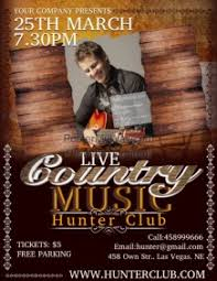 template flyer country free customizable design templates for country music postermywall