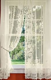 Shabby Chic Curtains Cottage Floral Point Lace Rod Pocket Curtains Via Country Curtains