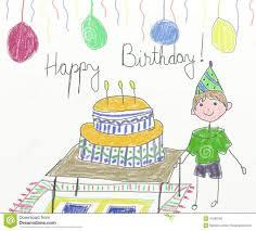 Sketch Birthday Card Pencil Sketch Of Birthday Party Birthday Card Drawing Gangcraft