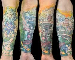 consider half sleeve tattoos for sleeve ideas