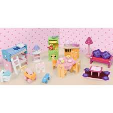 Dolls House Furniture Sets Melissa And Doug Princess Castle Furniture Set Hayneedle