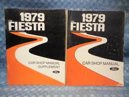 1979 ford fiesta oem original shop manual with supplement 2