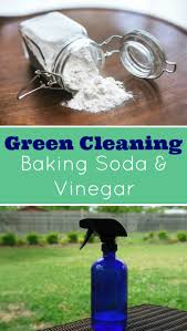 green cleaning baking soda and vinegar