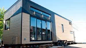 house on wheels a modern tiny house on wheels in quebec canada
