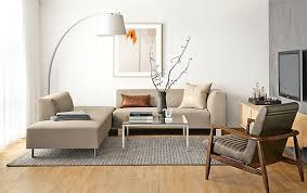 Room And Board Sofa Bed Chelsea Sectional With Callan Chair Modern Living Room Furniture