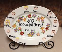 anniversary plates 50th anniversary 8 best anniversary gift ideas images on anniversary