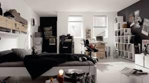 chambre ado gar n design interieur chambre ado garçon nir blanc étagères 100 idées