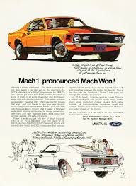 1970 ford mustang fastback mach 1 advertisement classic mustangs