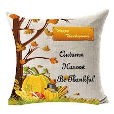 online get cheap autumn leaves cushions home decor aliexpress com season blessing large tree maple leaves pumpkin autumn harvest be thankful thanksgiving gifts flax throw pillow