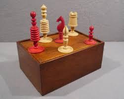 washington pattern u201d ivory chess set circa 1800 decorative