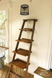 Leaning Bookcase Woodworking Plans by Ladder Display Shelves Pretty Handy
