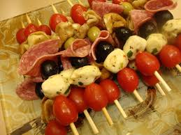 cold appetizers on a stick antipasto kabobs food pinterest
