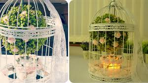 bird cage decoration diy birdcage centerpiece floral decoration