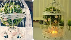 bird cage decoration diy birdcage centerpiece floral decoration