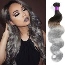 hoghtlighting hair with gray 8a brazilian body wave grey hair weave 4 bundles brazilian grey