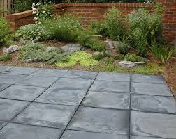 Slate Patio Designs Patios Courtyards Seating Transitions Inside To Outside Landscape