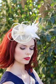 tea party fascinators ivory fascinator womens tea party hat church hat kentucky derby