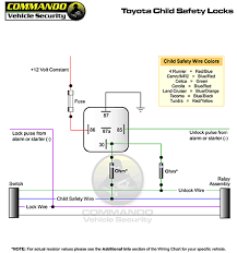 technical wiring diagrams toyota child saftey door locks for