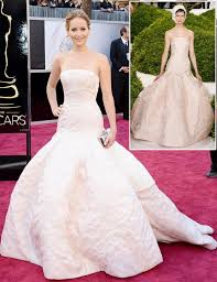 what to wear with a light pink dress jennifer lawrence dior light pink dress 2013 oscars stylefrizz