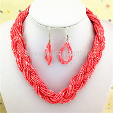 necklace jewelry patterns images New fashion seed bead weaving necklace patterns african coral jpg