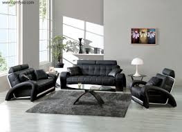 Black Living Room Furniture Sets Living Room Top Grain Leather Living Room Set 00028 Common