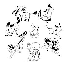 pokemon coloring pages eevee evolutions 2 pokemon coloring pages