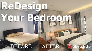Design Your Bedroom How To Redesign Your Bedroom With Sketchup Tutorial