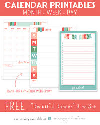 free printable 2016 planners u0026 calendars sparkles of sunshine