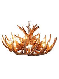 Deer Antler Light Fixtures Rustic Whitetail 12 Antler Cascade Chandelier